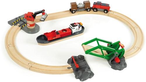 BRIO trein Treinset vracht bij de haven 33061