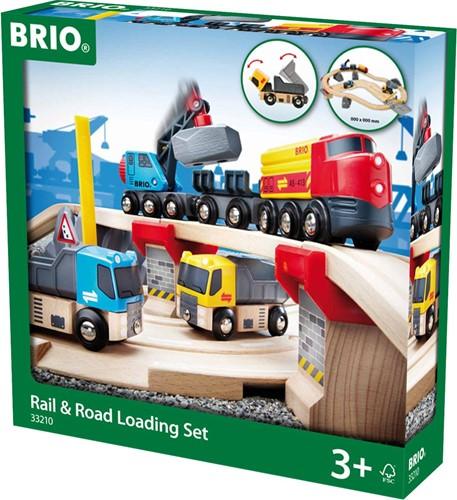 BRIO trein Spoor en weg transportset 33210-2