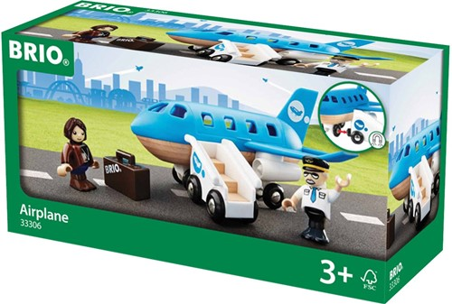 BRIO trein Vliegtuig instapset 33306-2