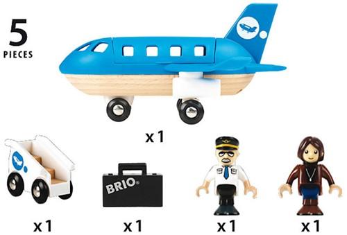 BRIO trein Vliegtuig instapset 33306-3