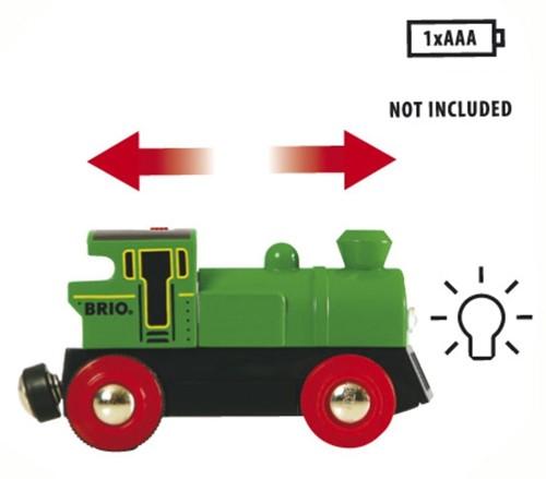 BRIO trein Groene locomotief op batterijen 33595-3