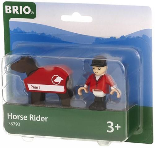 Brio  houten trein accessoire Paard en jockey 33793-3