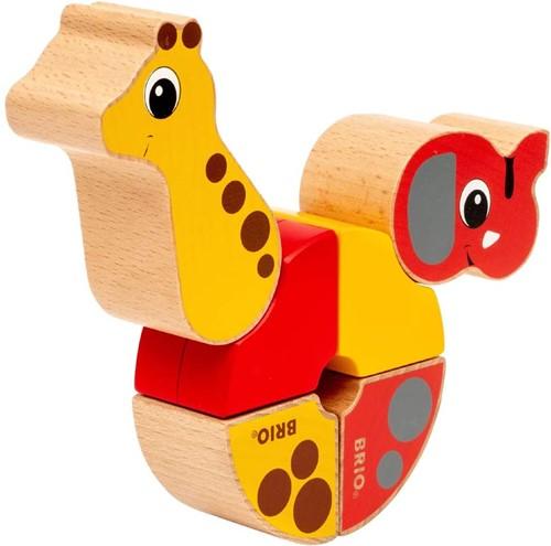 BRIO Magnetische olifant en giraf - 30284