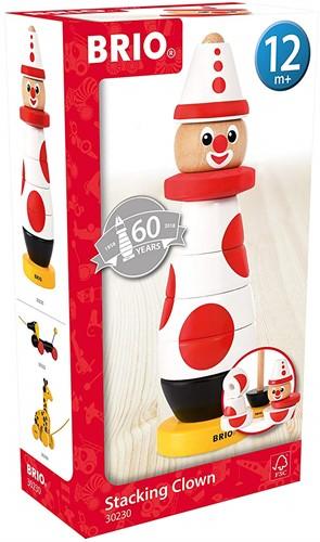 BRIO Stacking Clown, 60 Anniversary