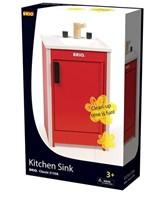 Brio  houten keukentje Spoelblok rood 31358-3