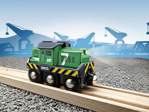 BRIO trein Locomotief voor goederentrein op batterijen 33214-3