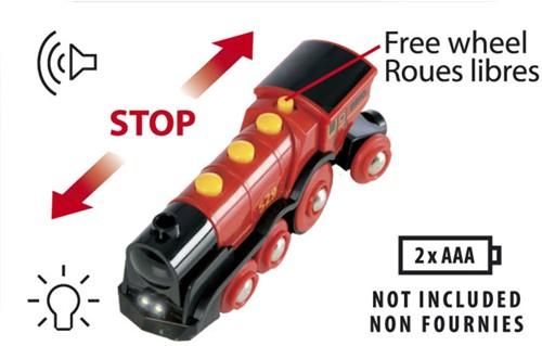 BRIO trein Rode locomotief op batterijen 33592-3