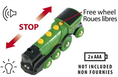 BRIO trein Grote groene locomotief op batterijen 33593-2