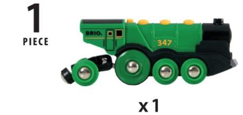 BRIO trein Grote groene locomotief op batterijen 33593-3
