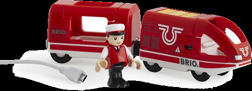 BRIO Oplaadbare rode passagierstrein met USB kabel - 33746