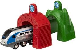 BRIO trein Smart Tech locomotief met actietunnels 33834