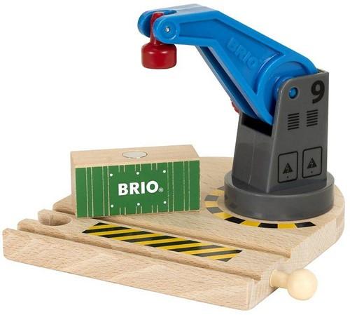 BRIO trein Lage hijskraan 33866