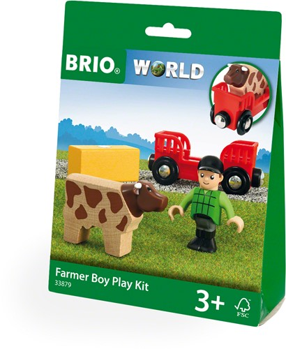 BRIO train Farm Boy Play Kit 33879-3