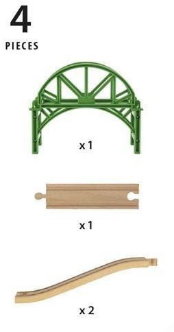 BRIO train Stackable Bridge 33885-2