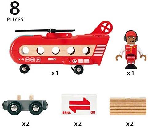 BRIO trein Vracht transport helikopter 33886-2