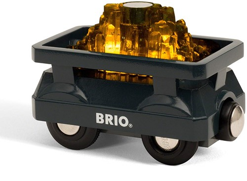 BRIO train Light Up Gold Wagon 33896