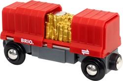 BRIO trein Vrachtwagon met goudlading - 33938