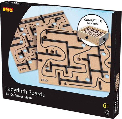 Brio  houten kinderspel Labyrinth borden
