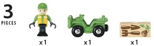 Brio  houten trein accessoire ATV Vehicle with load 33798-2