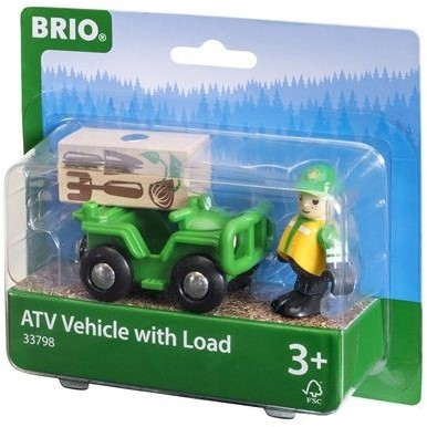 Brio  houten trein accessoire ATV Vehicle with load 33798-3