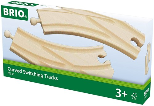 BRIO trein houten spoor wissels - 33346