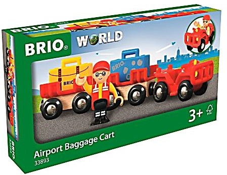 BRIO trein Vliegveld bagage kar 33893