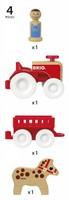 BRIO speelgoed Tractorset met paard in aanhanger-3