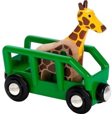 BRIO trein Wagon met giraffe 33724