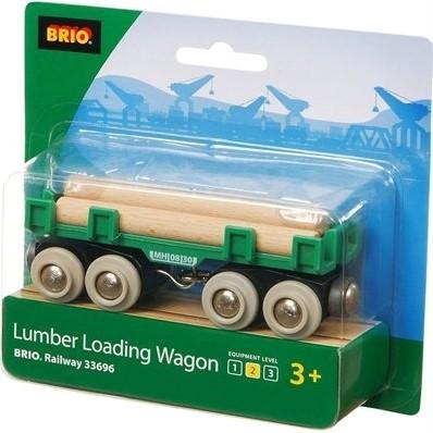 BRIO trein houttransport wagon 33696-2